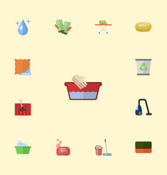 Flat icons wisp washcloth aqua and other vector