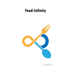 Food and infinity icon vector image