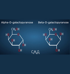 Galactose alpha-d-galactopyranose vector