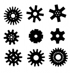gearwheel icons vector image