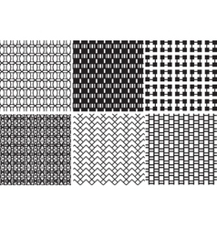 geometric black and white textures vector image
