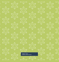 green flower pattern background vector image