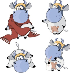 Happy cowsClip Art Cartoon vector image