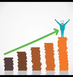 happy with business growth vector image