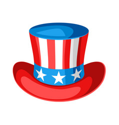 hat with american flag vector image