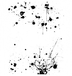 ink splatter grunge design elements vector image