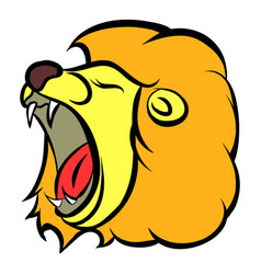 lion head icon cartoon vector image