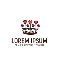 love garden logo design concept template vector image