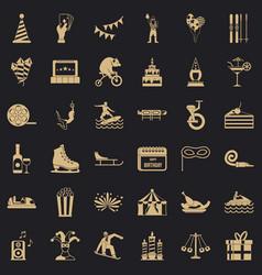 lunapark icons set simple style vector image
