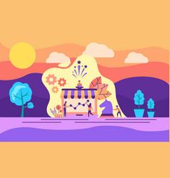 modern flat design concept marketing strategy vector image