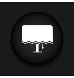 Modern night lamp black circle icon vector