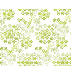 Modern shapes dill or fennel seamless pattern vector