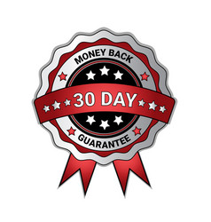 money back in 30 days guarantee medal isolated vector image