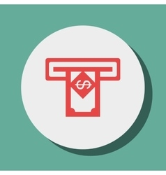 Money dispenser isolated icon design vector