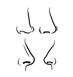 nose icon vector image