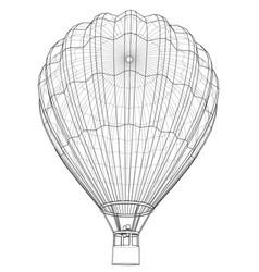 Outline hot air balloon vector