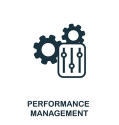 Performance management icon simple element from vector
