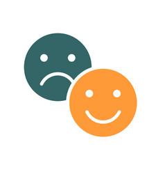 Positive and negative emoji colored icon level vector