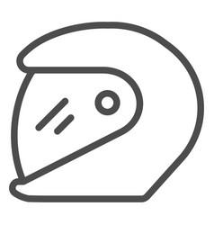 Racing helmet line icon motorcycle helmet vector