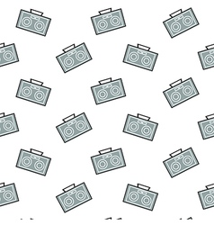 Radio Pattern Background vector