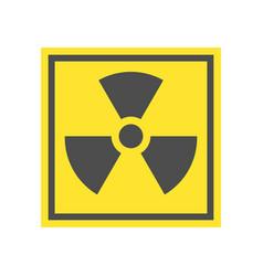 radioactive warning yellow triangle sign vector image