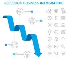 Recession Business Infographic Concept vector image