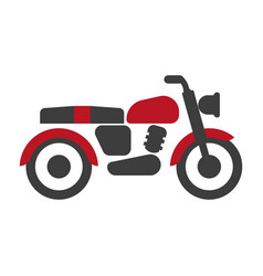 Red-black bike graphic silhouette isolated vector