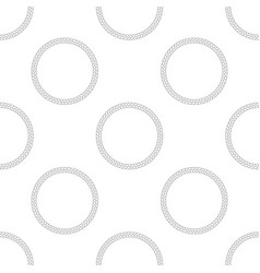 Rope frame seamless pattern on white background vector