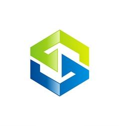 S letter technology logo vector