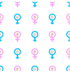 seamless pattern with male and female man and vector image