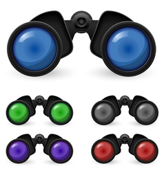 Set of binoculars vector