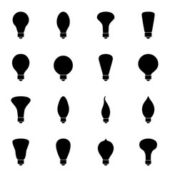 set of bulb icons vector image