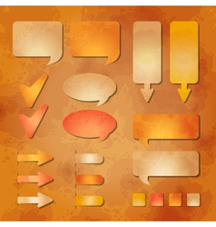 Set of textured web design elements vector image