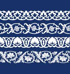 Set seamless tape patterns in form cotton vector