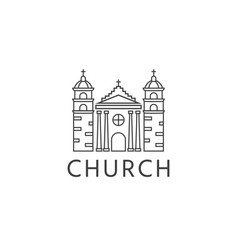simple template logo icon abstract church vector image
