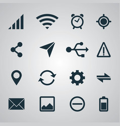 Smartphone set ui icons vector