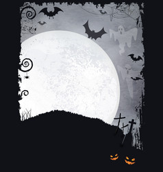 Spooky Halloween background vector