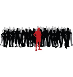 Stand out from crowd vector