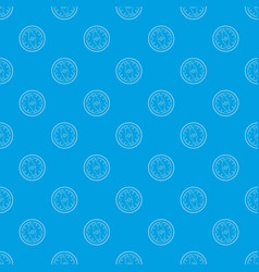 tourist compass pattern seamless blue vector image