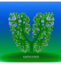 Tree lungs vector