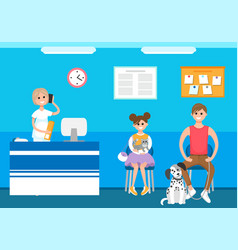 veterinary clinic reception appointment patients vector image