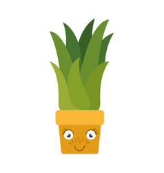 white background with caricature of corn plant in vector image