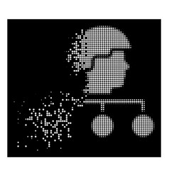 White dissolved dotted halftone builder management vector