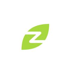 z letter leaf logo icon download vector image