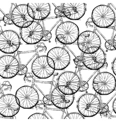 bicycles seamless pattern simple vector image vector image
