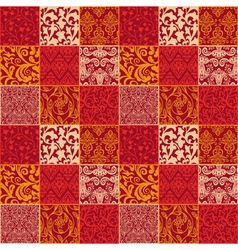 Bright floral seamless pattern - vector image vector image
