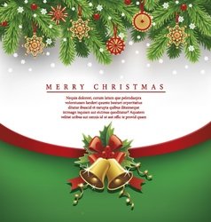 christmas background traditional straw decorations vector image vector image