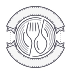 food service logo vector image