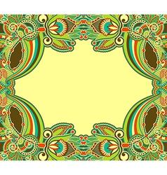 oriental ornamental floral vintage frame design vector image vector image