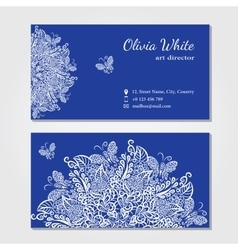 business card Blue background vector image vector image